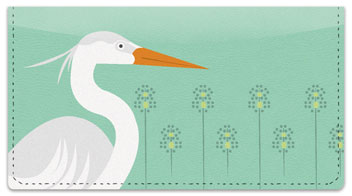 Heron Checkbook Cover