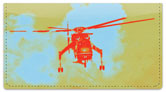 Sky Crane Helicopter Checkbook Cover