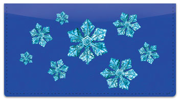 Wintry Flakes Checkbook Cover