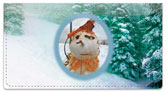 Silly Snowman Checkbook Cover