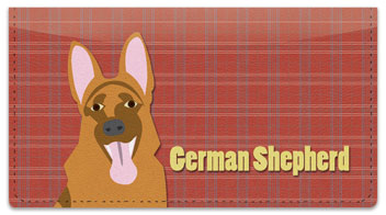 German Shepherd Checkbook Cover