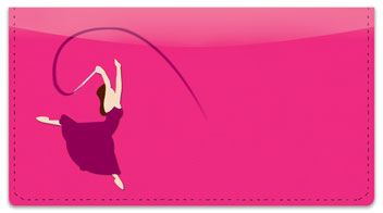 Ribbon Dancing Checkbook Cover