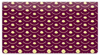 Overlap Pattern Checkbook Cover