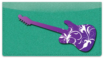 Scroll Guitar Checkbook Cover