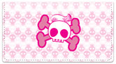 Stylish Skull Checkbook Cover