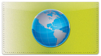 Map of the World Checkbook Cover