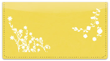 Flower Silhouette Checkbook Cover