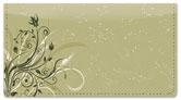 Flower-Filled Corner Checkbook Cover