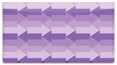 Purple Arrow Checkbook Cover
