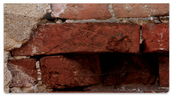 Brick Wall Checkbook Cover