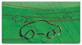 Car Sketch Checkbook Cover
