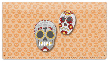 Day of the Dead Checkbook Cover