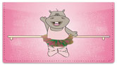 Happy Hippo Checkbook Cover