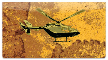 Helicopter Checkbook Cover