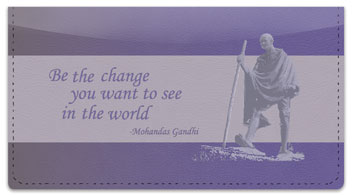 Gandhi Checkbook Cover