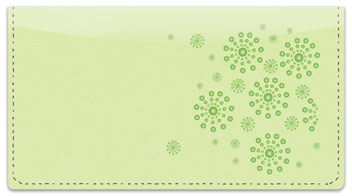 Green Burst Checkbook Cover