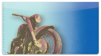 Old School Motorcycle Checkbook Cover