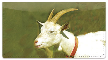 Goat Checkbook Cover