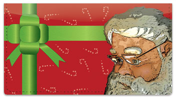 Father Christmas Checkbook Cover