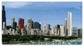 American Skyline Checkbook Cover