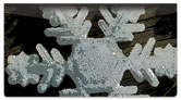 Christmas Snowflake Checkbook Cover