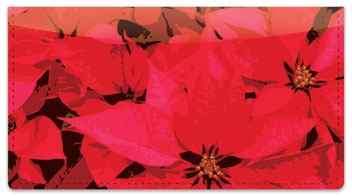 Poinsettia Checkbook Cover