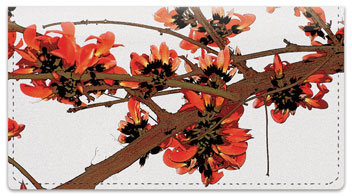 Rustic Flower Checkbook Cover