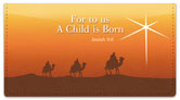 Nativity Scene Checkbook Cover