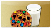 Milk & Cookie Checkbook Cover