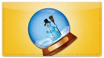 Snow Globe Checkbook Cover