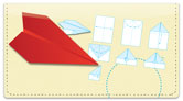 Paper Airplane Checkbook Cover