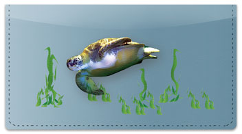 Sea Turtle Checkbook Cover