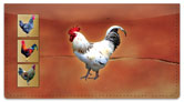 Rooster Checkbook Cover