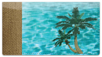 Peaceful Palm Tree Checkbook Cover