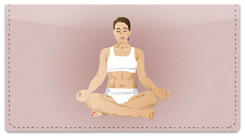Yoga Pose Checkbook Cover