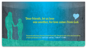 God's Love Checkbook Cover