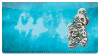 Scary Skull Checkbook Cover