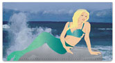 Lovely Mermaid Checkbook Cover