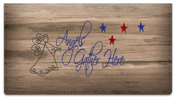 Country Angel Checkbook Cover