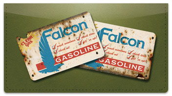 Vintage Gasoline Checkbook Cover