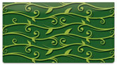 Green Vine Checkbook Cover