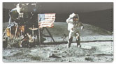 Moon Landing Checkbook Cover