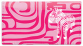 Neon Animal Print Checkbook Cover