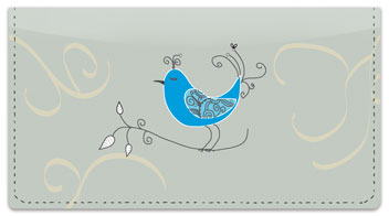 Whimsical Bird Checkbook Cover