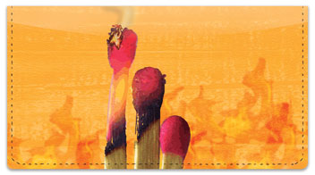 Pyromaniac Checkbook Cover