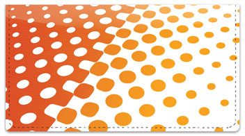 Halftone Checkbook Cover
