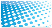 Blue Halftone Checkbook Cover