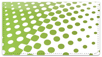 Green Halftone Checkbook Cover