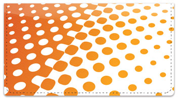 Orange Halftone Checkbook Cover