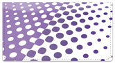 Purple Halftone Checkbook Cover